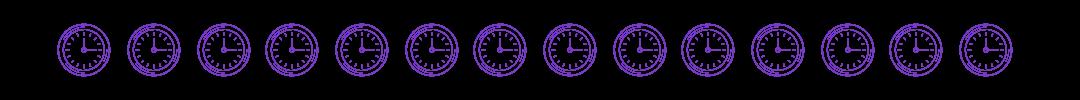 bandeau horloge
